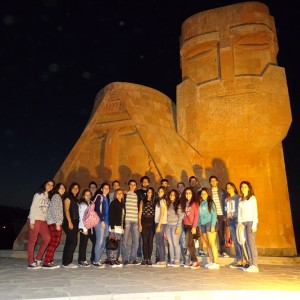 AGBU Lebanon Tarouhy-Hovagimian School students visit Armenia in Summer 2014