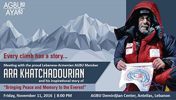 Meeting with Everest Climber: Ara Khatchadourian