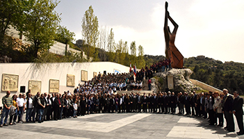 Armenian Genocide Commemorative Walk by AGBU-AYA Members